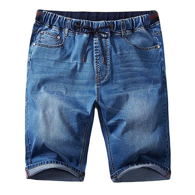 YAANCUNN Hombres Denim Jeans Shorts Talla Grande Pantalones Cortos De Mezclilla Casuales Y Cómodos Vaqueros Shorts ju1fs