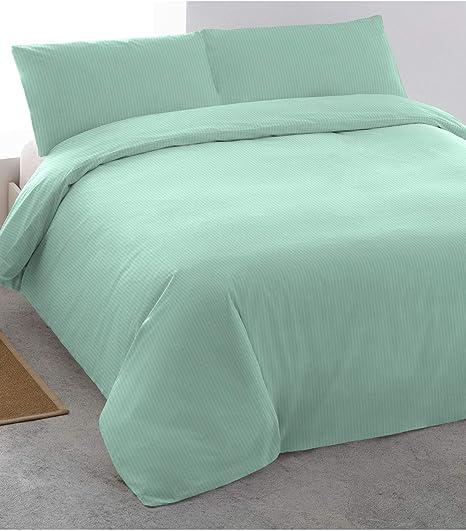 PimpamTex – Juego de Sábanas 100% Algodón Satén para Cama PL – (180 x 200 cm, Verde Tiffany): Amazon.es: Hogar
