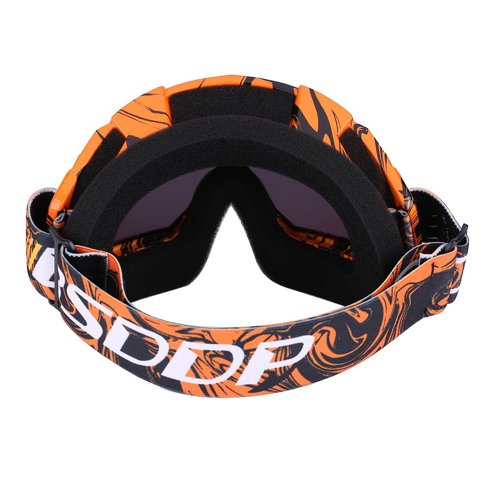 naranja-blanco Qiilu Gafas Protecci/ón de moto para Motocross Esqui Deporte Ciclismo Carretera
