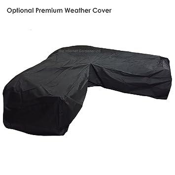 outdoor covers for garden furniture. High Quality Black Outdoor \u0027L\u0027 Shaped Rattan Corner Sofa Weather Cover Covers For Garden Furniture