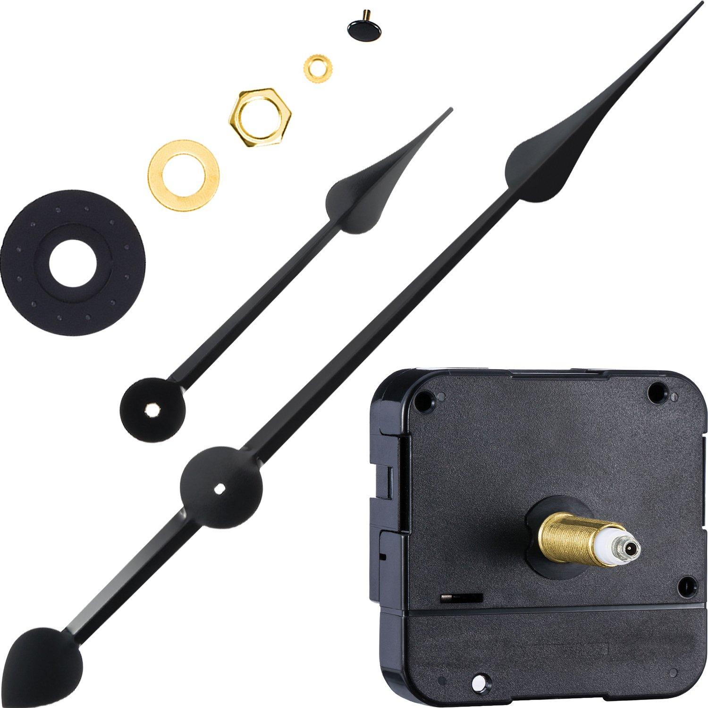 WILLBOND Long Shaft High Torque Clock Movement Clock Motor with 7 Inch Spade Hands Shaft Length 9 10 Inch 23 mm