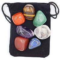 Piedras de chakra de cristal, que pueden usarse como gemas dignas de atención durante la meditación y la meditación de…