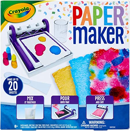 Crayola Paper Maker, Paper Making DIY Craft Kit, Gift for Kids, 7, 8, 9, 10