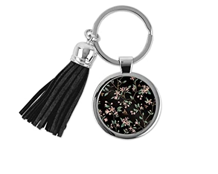 Amazon.com  Japanese Tree and Bees Metal Keychain Key Chain Ring ... a22587e8f0c9