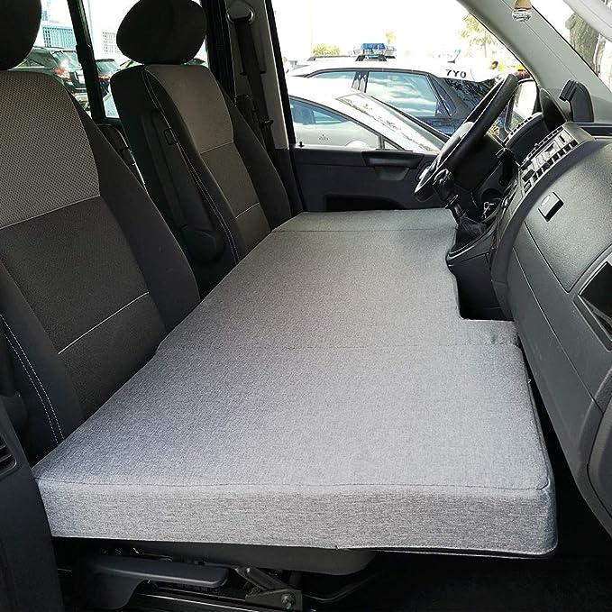 KFoam.es Colchón Plegable Cama Delantera Camper para Volkswagen T4, T5 y T6 (Transporter, Multivan, Caravelle, California Beach, Eurovan)