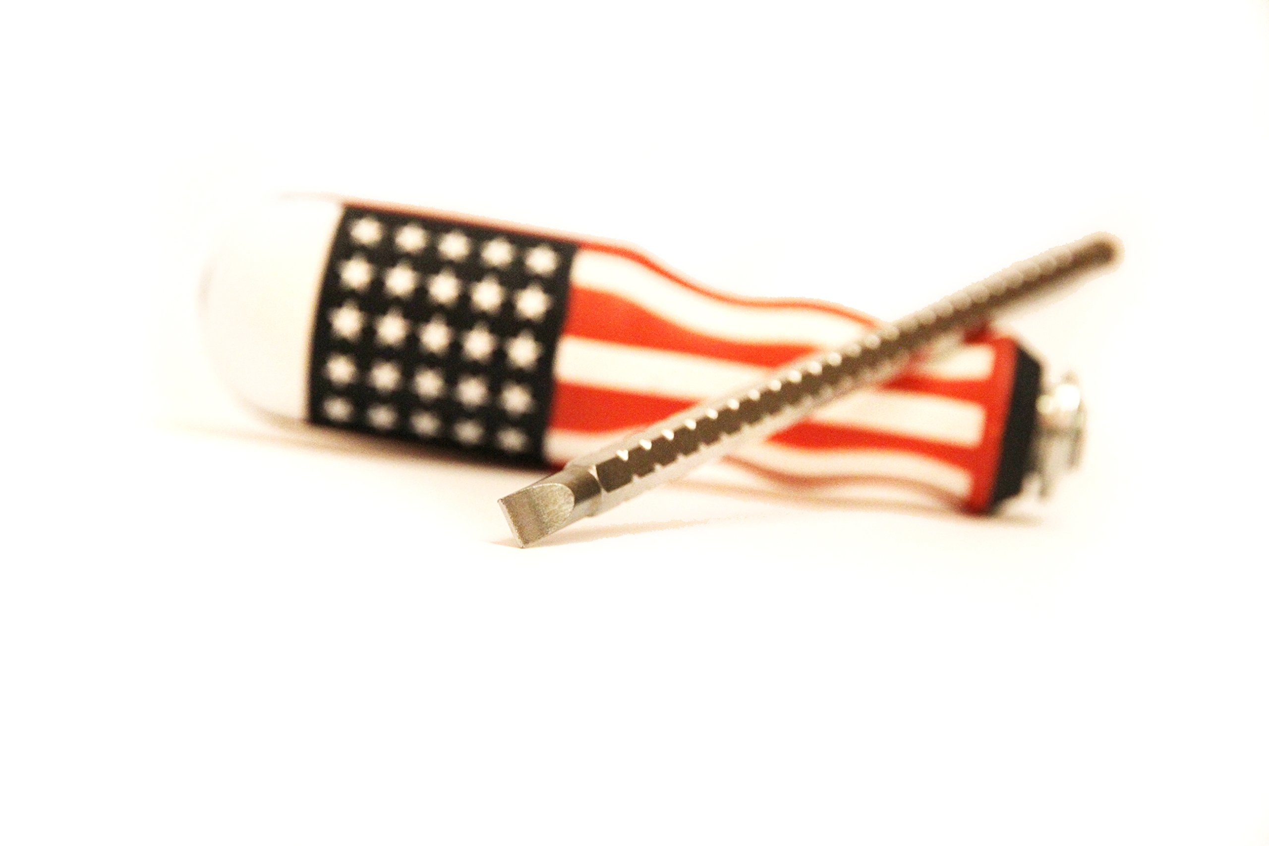 USA Screwdriver 2-in-One Combinations - Flat & Phillips Screwdriver Heads, Magnetic Tips, Heavy Duty Grip Home & Professional Use - American Flag Theme By Steel & Wood US Tools by Steel & Wood US Tools (Image #6)