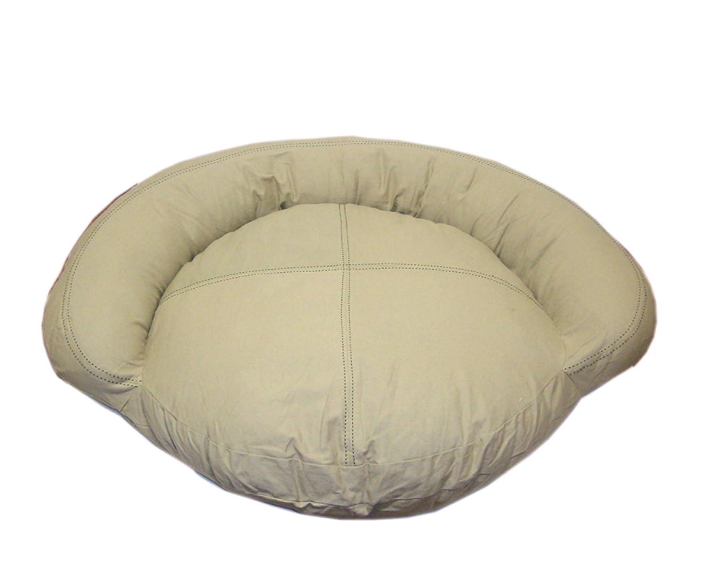 Khaki 35-Inch Khaki 35-Inch CPC Saddle Stitch 35-Inch Twill Bolster Bed, Khaki