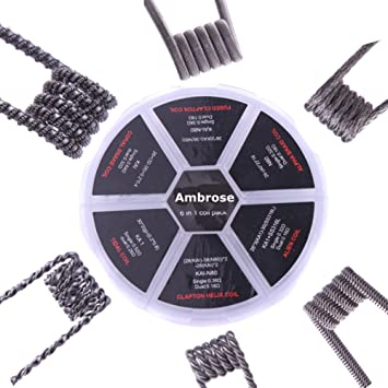 6 in 1 Pack Alien/Alpha Braid/Fused Clapton/Tidal Clapton Coil DIY ...