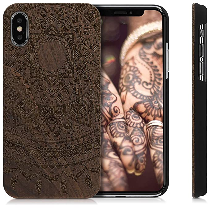 Amazon.com: kwmobile - Carcasa para iPhone X (madera ...