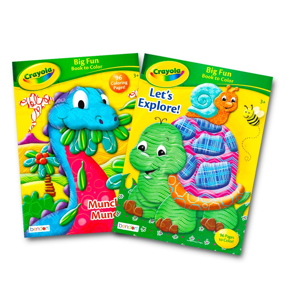 2 Coloring Books, 2 Doodle Pads, 64 Stickers Crayola Coloring Books Set with Stickers