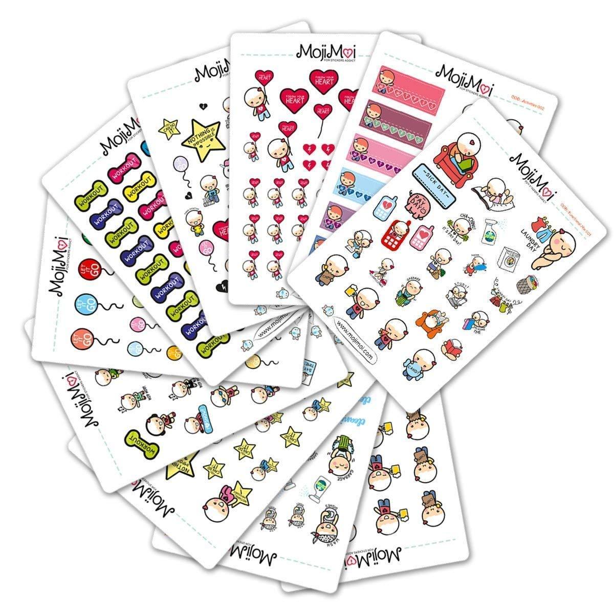 24 Dimsum stickers for planners Kikkik Filofax Happy Planners Scrapbook Erin Condren and TN