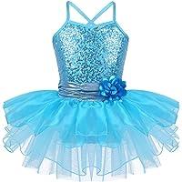 iixpin Mailot de Ballet para Niñas Mailot de Patinaje ArtIstico Vestido Princesa con Lentejuelas Leotardo Gimnasia…