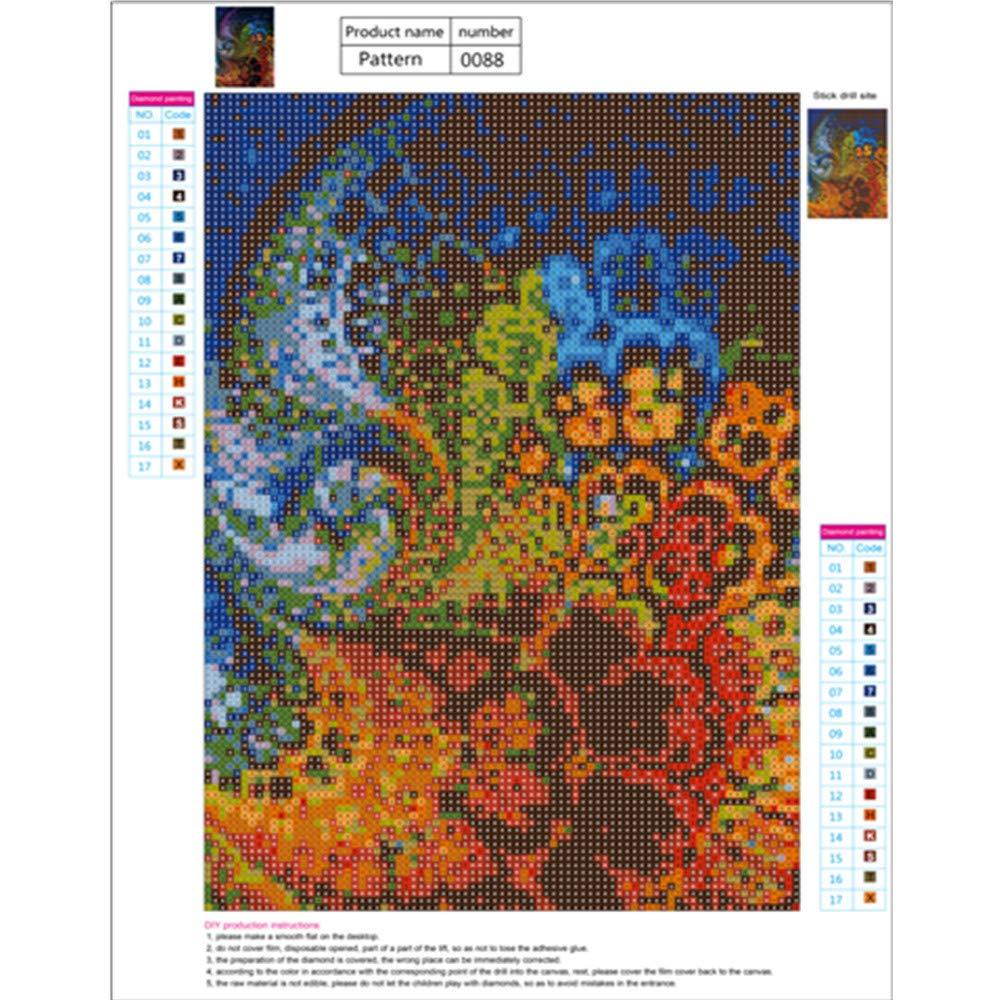 Pintura Diamante de BaZhaHei, Diamond Painting Full Diamond Drilling Puzzles Puzzle patrón 30 * 40 cm del 5D Bordado Pinturas Rhinestone Pegado DIY Pintura ...