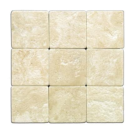 Durango Cream X Travertine Tumbled Tile Box Of Sq Ft - Cheap 4x4 tiles