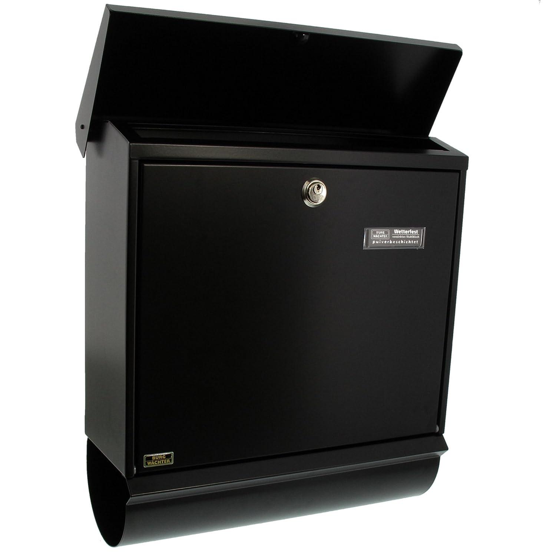 A4 Einwurf-Format BURG-W/ÄCHTER Briefkasten-Set mit integriertem Zeitungsfach Comfort-Set 39130 Ni Edelstahl