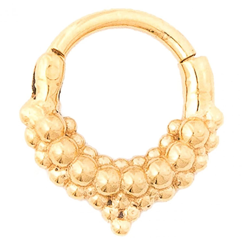 14g 5//16 Tawapa 56-HAUS105S-14516 Steel Navel Body Jewelry Gold Plated Mist Septum Ring