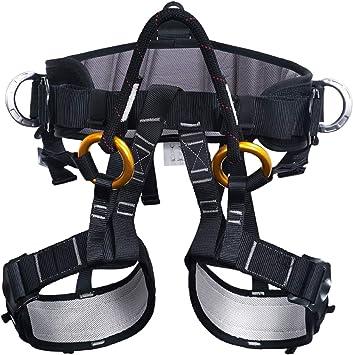 ENJOHOS Arnés de Escalada, Arnés de guía, Cinturones de Seguridad para montañismo de Alto Nivel Espeleología de Rescate Recordatorio de Escalada ...