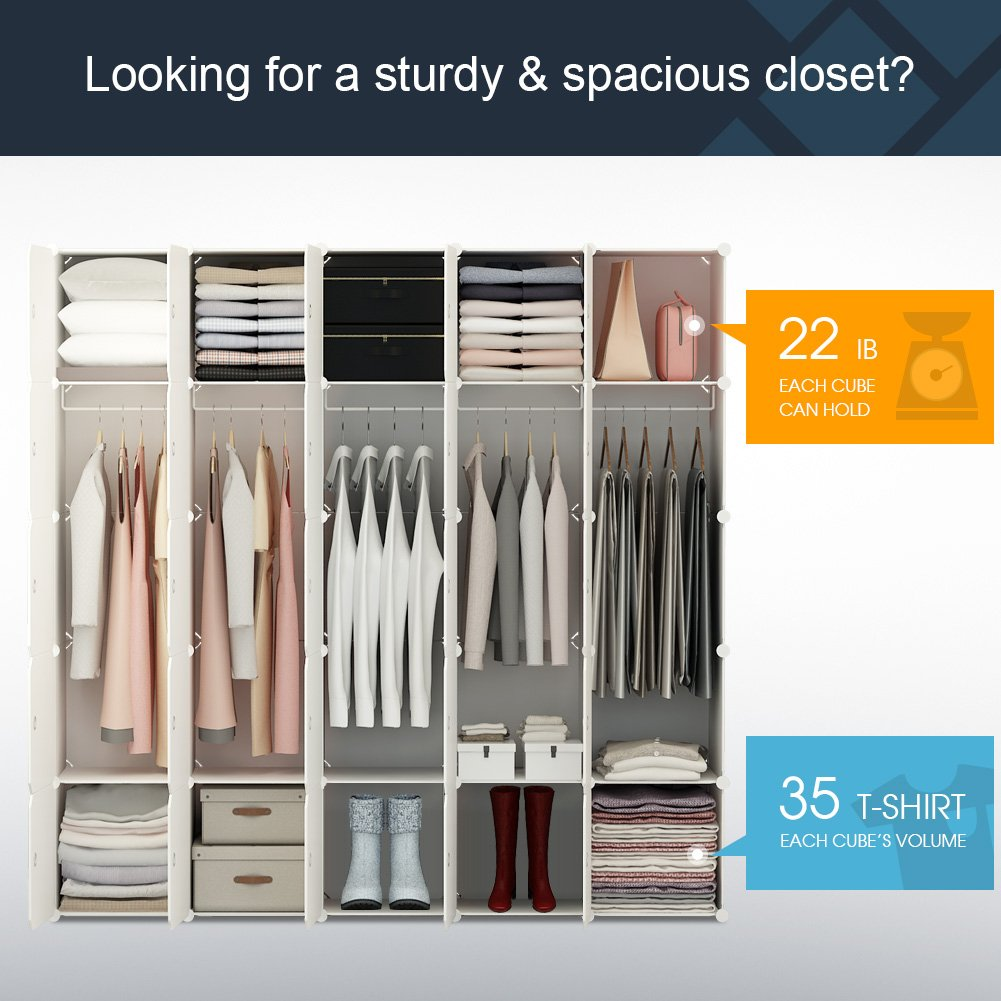 2019 Portable Wardrobe Closet For Hanging Clothes ...