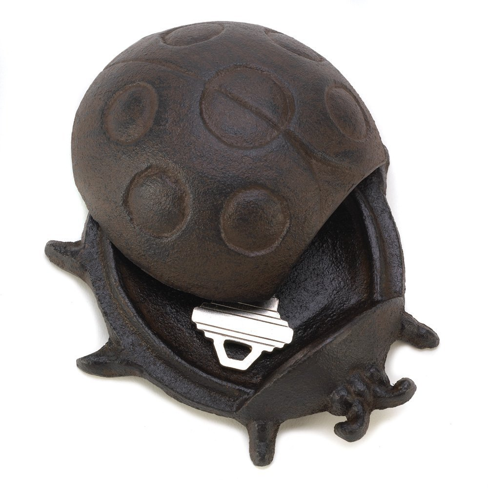 Summerfield Terrace Key Hider Outdoor, Garden Ladybug Cast Iron Metal Key Hider Small Extra Key (Sold by Case, Pack of 24)