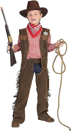 Disfraz de vaquero Halloweenia con estrella de Sheriff para niños ...