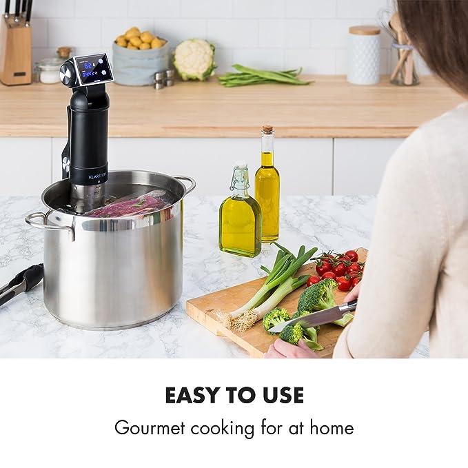 Klarstein Quickstick Pro Sous Máquina de cocción al vacío: Amazon.es: Hogar