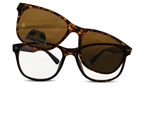 216304cacc Indiana Clear Bifocal Reading Glasses with Magnetic Polarised Sunglasses  Overlay UV400 Protected Lenses (Black