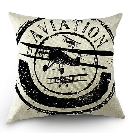 odin sky Funda de Almohada de Tiro de avión Diseño de Sello ...