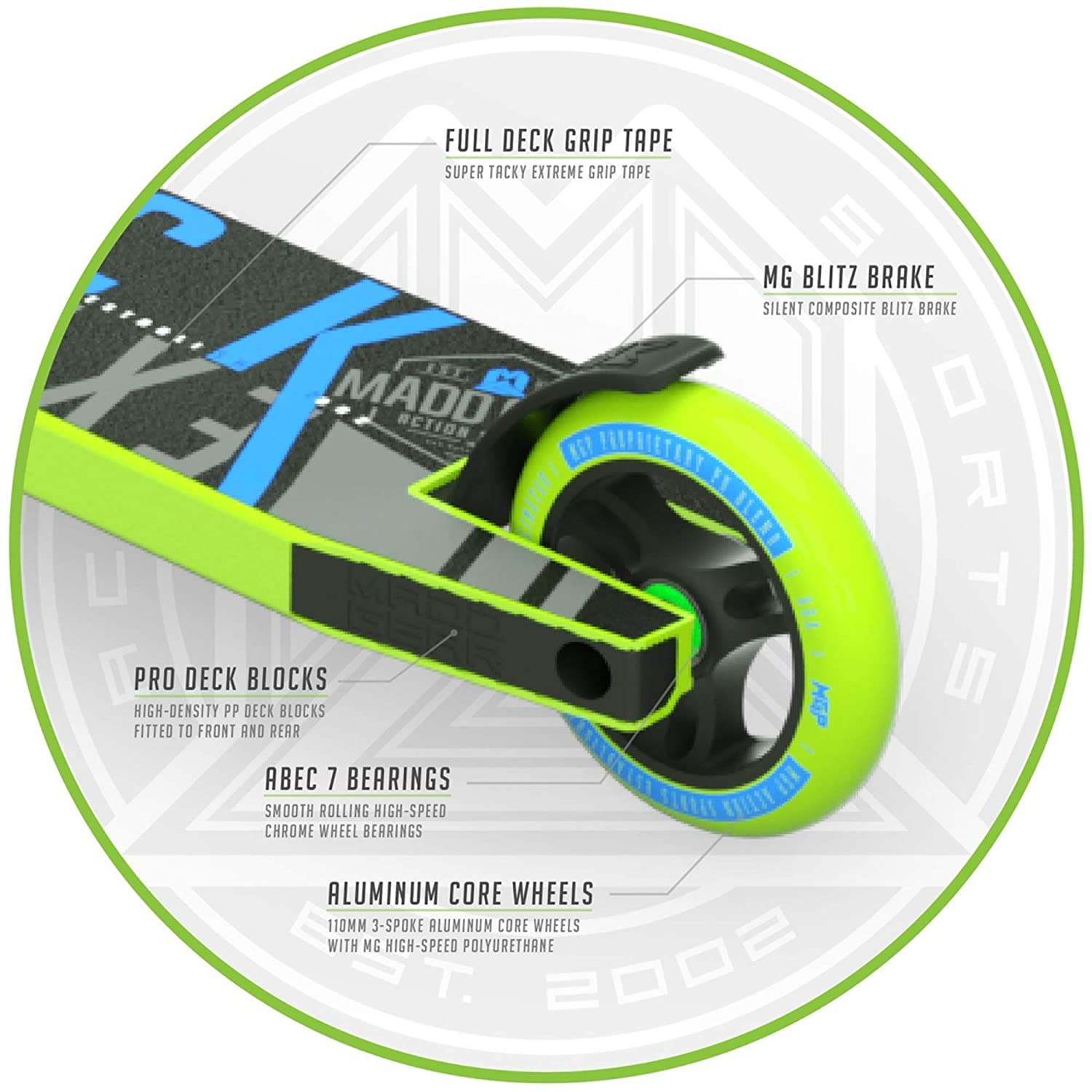 MADD Gear Kick Extreme Freestyle Stunt - Patinete, Color ...
