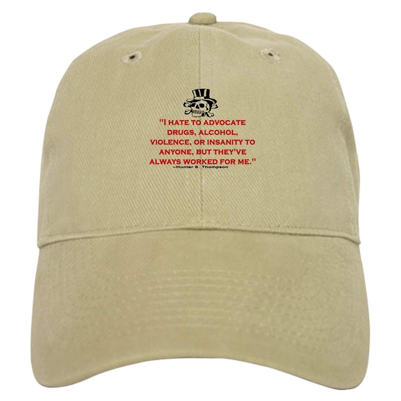 - Baseball Cap with Adjustable Closure Thompson Quote heranTisyan Hunter S Unique Printed Baseball Hat Orig