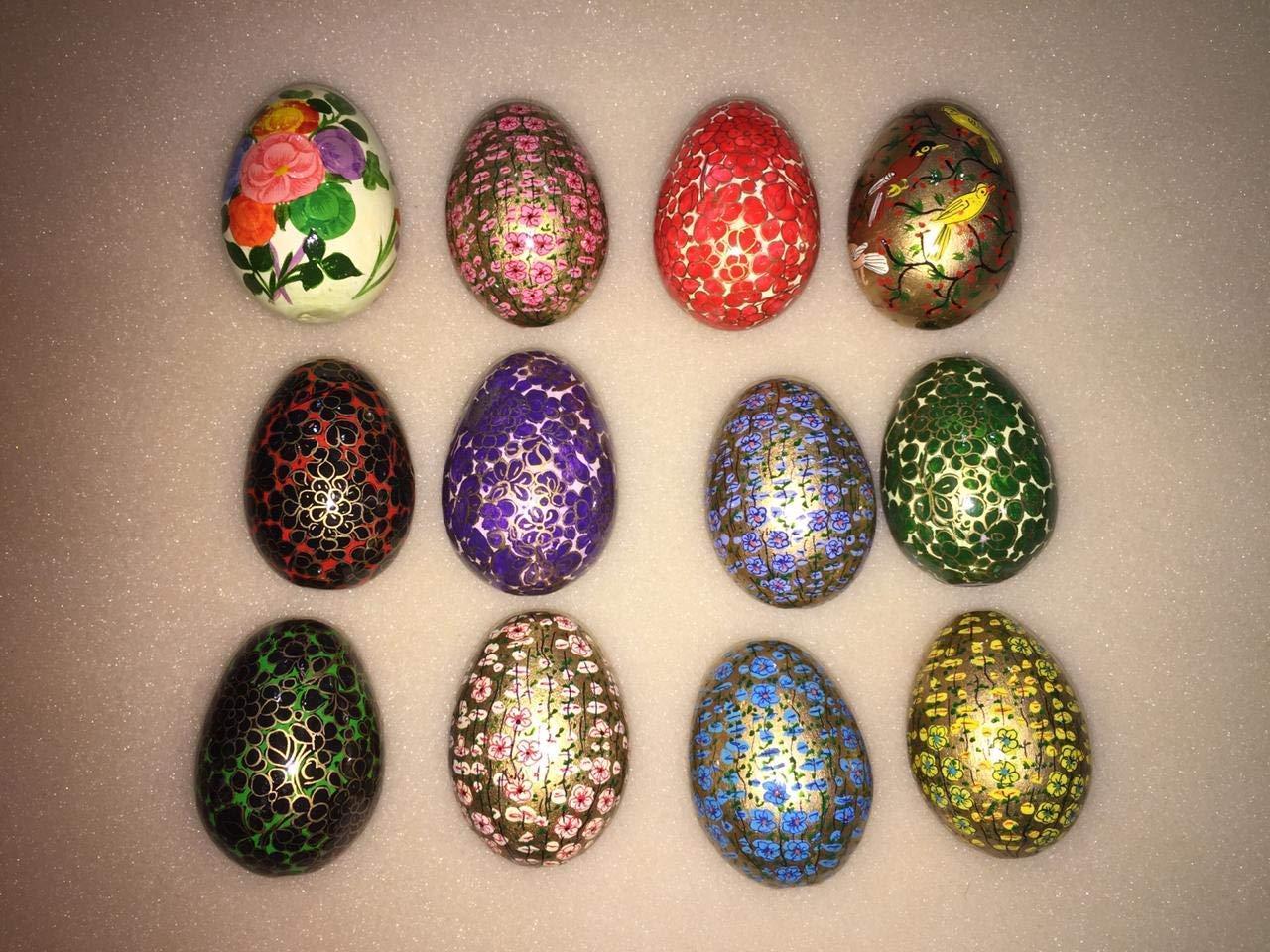 Choose Colour Set of 3 Wooden Hanging Decorations Easter Decorations Egg Hunt