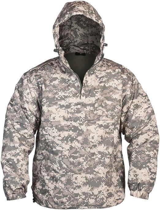 Brandit Windbreaker Hooded Military Combat Mens Jacket Anorak Night Camo Digital