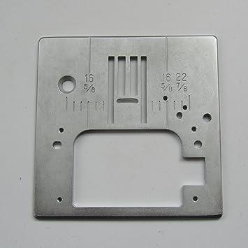 KUNPENG - 2 piezas PLACA DE AGUJA ZIG ZAG # 051046 para SINGER 7256, 7258, 7422, 7424: Amazon.es: Hogar