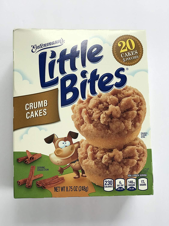 Entenmann's Little Bites Crumb Cakes ( 20 Cakes 5 Pouches) Net WT 8.25 oz (234g)