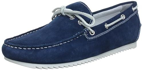 Geox U SHARK S U32Q5S000ABC4033 - Mocasines de cuero para hombre, color azul, talla 39: Amazon.es: Zapatos y complementos
