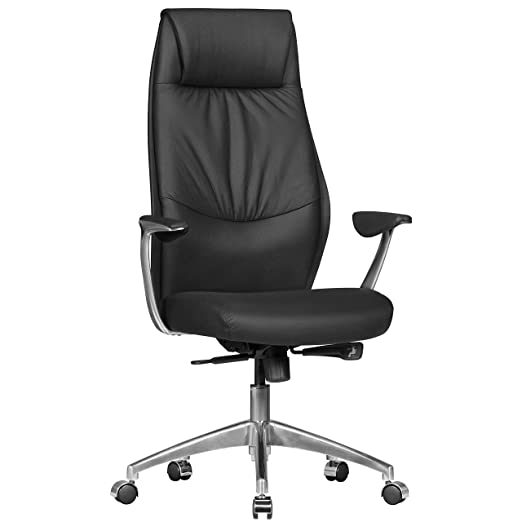 FineBuy silla de oficina de cuero reales OXET1 silla de dise ...