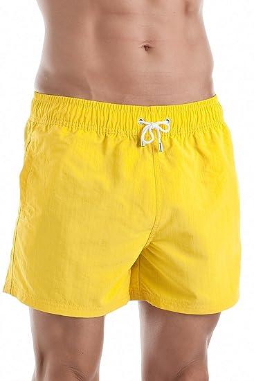 69eea35f32a81a Hom Men's Marine Chic Boxer Short Swim Trunks Light Blue: Amazon.co.uk:  Clothing