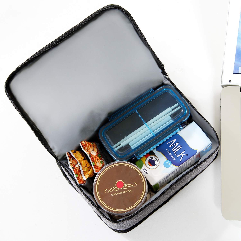 Lifewit Borsa Termica Porta Pranzo Borsa Frigo Isoterma per Alimenti Mantenere Caldo o Freddo per Uomo//Donna//Bambino Lunch Box per Campeggio Lavoro Scuola Grigio