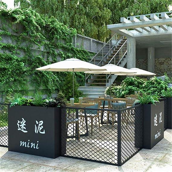 Cerca de jardín paisajístico, cercas de decoración de borde de alambre móvil de hierro a prueba de herrumbre, cerca de bloqueo Cubierta de pantalla de malla Malla de tela para cercas de