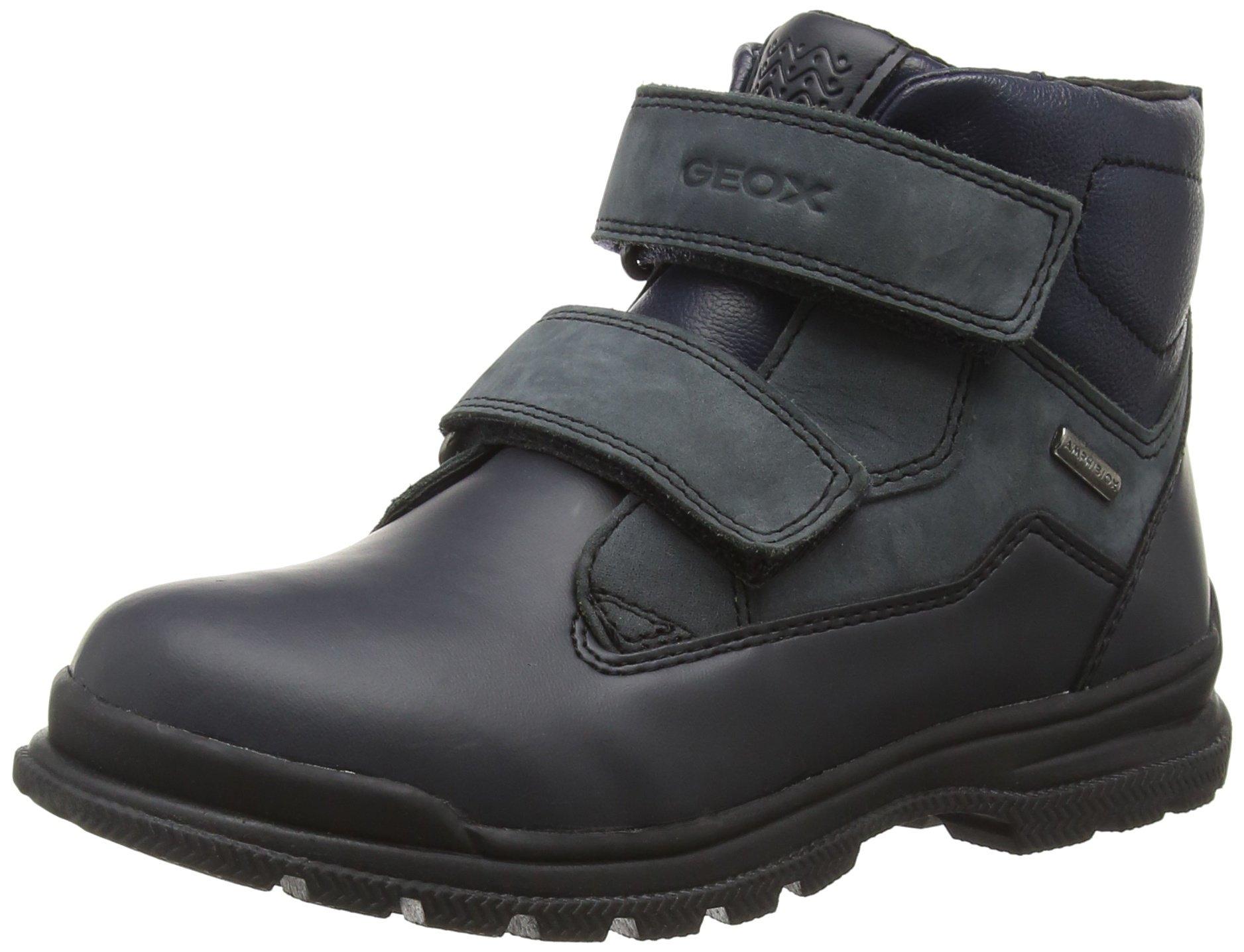Geox Boys J William Waterproof Velcro Snow Boot Shoe, Navy/Blue, 28