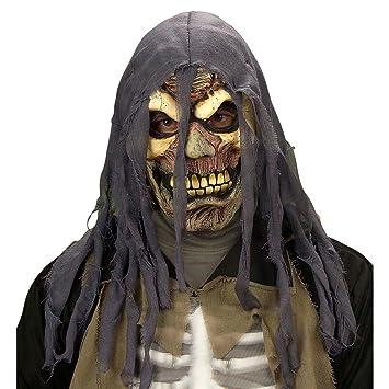 Calavera Máscara Calavera Máscara Gris de amarillo Calavera Máscara cráneo máscara Halloween máscara Horror Máscara Zombie