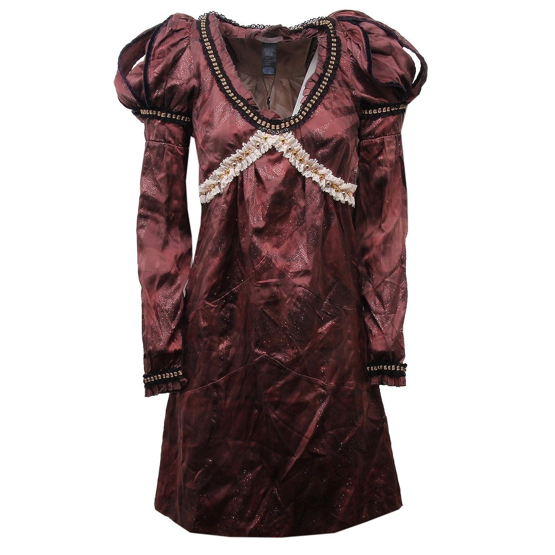 Custo D1328 Vestito Donna Barcelona Slim FIT Marrone Dress Silk Woman