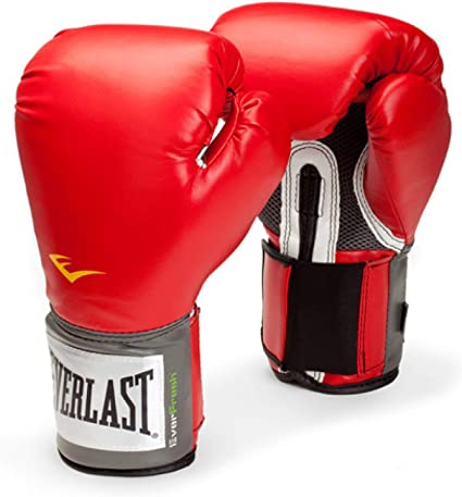 Everlast Elite Pro Style Leather Training Boxing Gloves Size 14 Ounces Red