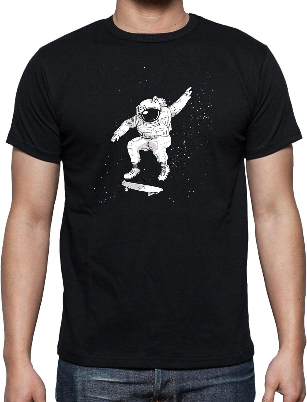 The Fan Tee Camiseta de Hombre Espacio Luna Astronauta Galaxia Estrellas Skate: Amazon.es: Ropa y accesorios