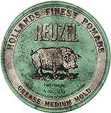 REUZEL Grease Medium Hold Pomade, Green, 4 oz.