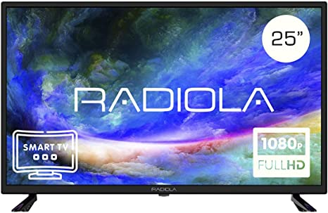 Televisor Led 25 Pulgadas Full HD Smart TV. Radiola LD25100KA, Resolución 1920 x 1080P, HDMI, VGA, WiFi, TDT2, USB Multimedia, Color Negro: Amazon.es: Electrónica