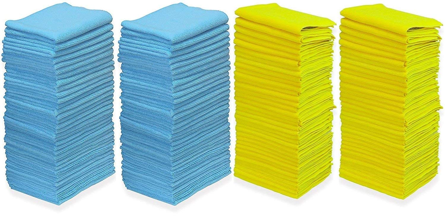 Pull N Wipe 79089 Microfiber Cleaning Cloths (Pack of 100) Edgeless Technology  with 2 Free Dispenser Boxes, Ideal for Home, Auto, Glass, Makeup Removing, Salon, Sports