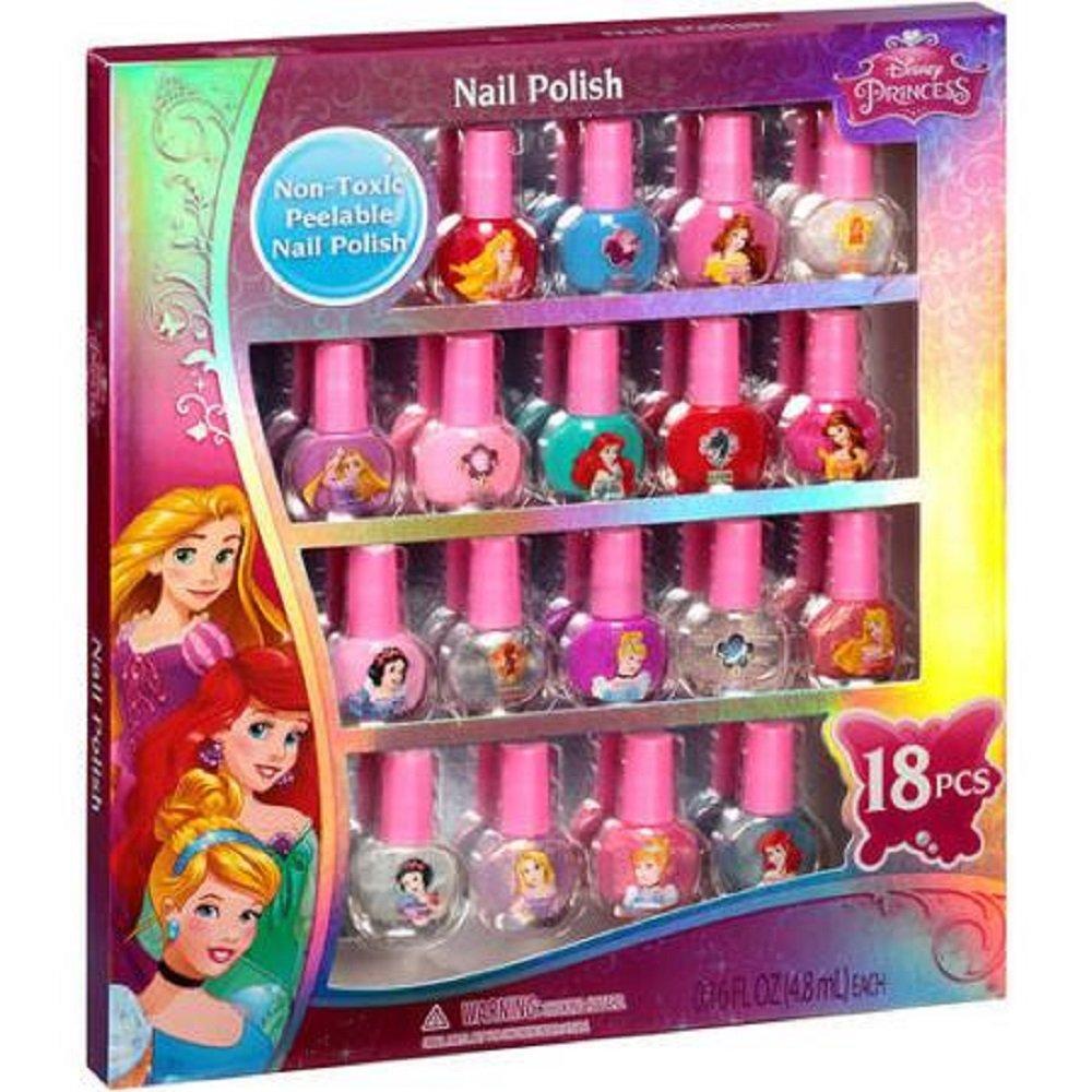 Townley Girl Disney Princess Non Toxic Peel Off Nail: Townley Girl Disney Princess Peel-Off Nail Polish Gift Set