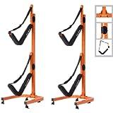 RAD Sportz Double Kayak Storage Rack- Self Standing Dual Canoe Kayak Cradle Set with Adjustable Safety Strap System for…