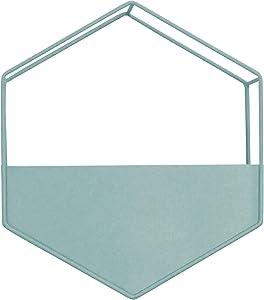 Stratton Home Décor Stratton Home Decor Light Blue Metal Wall Planter, 9.00W X 4.00D X 10.25H