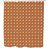 Bright Ethno Quilt Shower Curtain: Large Waterproof Luxurious Bathroom Design Woven Fabric